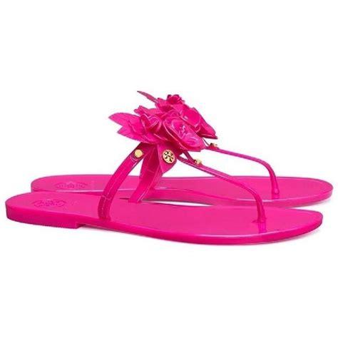 Burch Sandal Sendal Jepit Flip Flop Flower Bunga Original Ori burch pink flower jelly blossom sandals size us