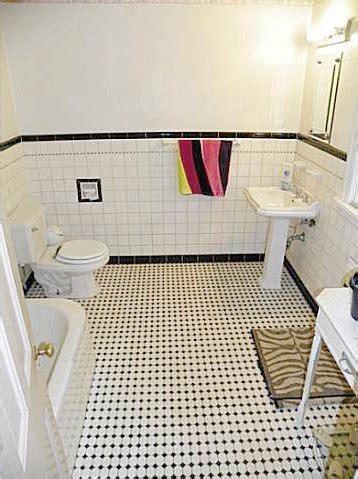 Retro Black & White Bathrooms   Lost in Austin