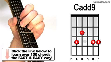 tutorial guitar close to you how to play cadd9 guitar chords tutorial lessons youtube