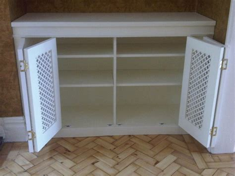 concertina doors alcove cabinet wwwfittedbespokefurniturecouk studysewing room pinterest doors cabinets living rooms