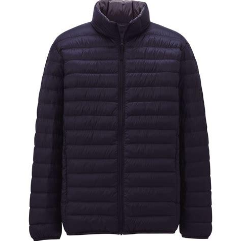 uniqlo light down jacket uniqlo ultra light down jacket in black for men blue lyst