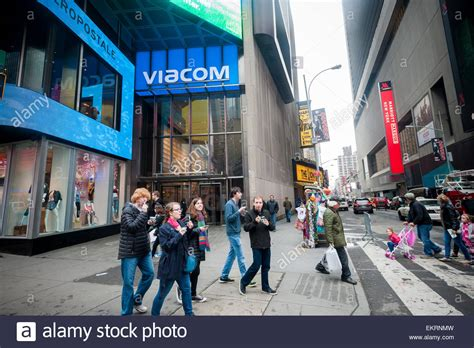 viacom headquarters in times square in new york on friday