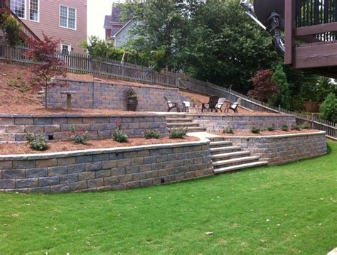 backyard retaining walls retaining wall dream backyard pinterest