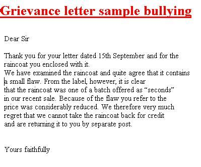 grievance template letters business letter template get free business letter