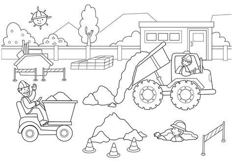 construction trucks coloring page inşaat boyama 199 alışmaları evimin altın topu