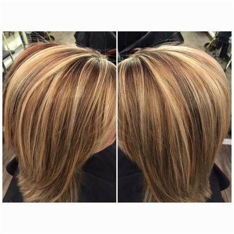 medium length hair style low lights high and low lights on blonde hair shoulder length hair