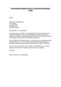 Employee Termination Notice Sle by Terminating Employee Due To Downsizing Sle Letter Hashdoc Employment Termination Letter