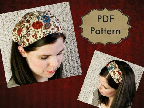 sewing pattern headband adult headband sewing pattern tutorial headcovering pattern