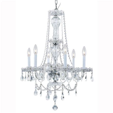 Chandeliers For Home Hton Bay Lake Point 6 Light Chrome And Clear Chandelier 1000051538 The Home Depot