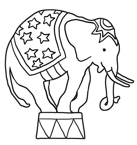 color elephant elephant coloring pages