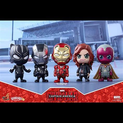 toys captain america 3 civil war team iron cosbaby bobble collectible set
