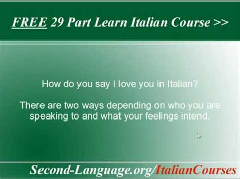 how do you say in italian how do you say i you in italian