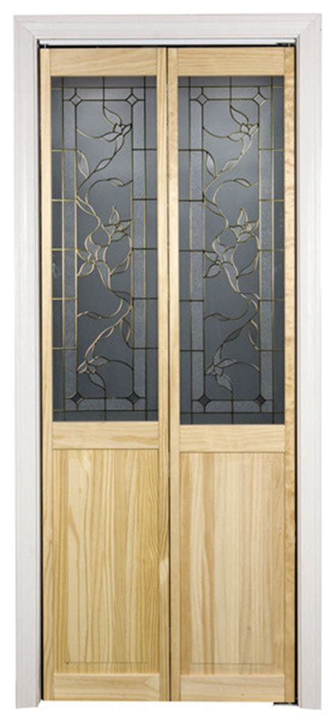 Giverny 24x80 5 Inch Glass Over Panel Unfinished Bifold 24x80 Interior Door