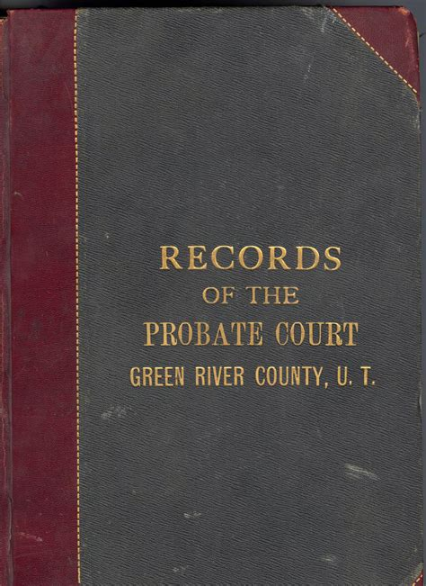Richland County Probate Court Records Green River County A Pre Territorial Docket Book Wyoming Postscripts