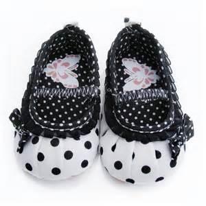 newborn baby polka dot bowknot prewalker crib shoes