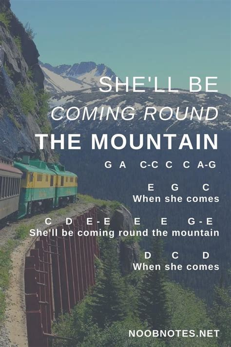 Comin The Mountain she ll be comin the mountain traditional letter