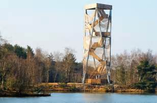 lommel observation tower is wrapped in over 3 5 kilometers