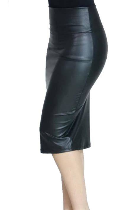 vegan leather pencil skirt from las vegas by glam squad