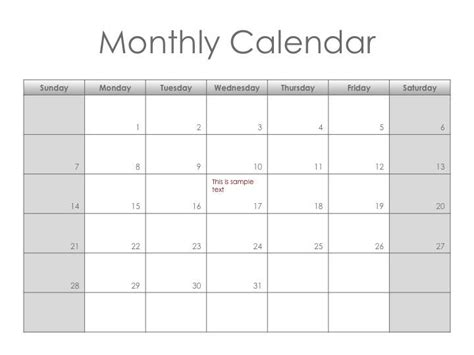 customizable calendar templates monotone monthly planner get this free printable