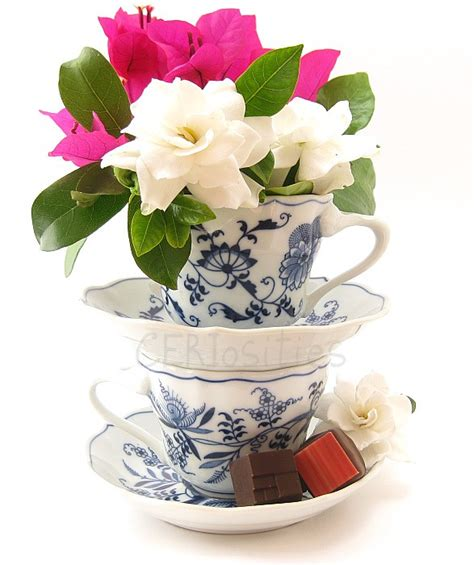 wedding decor tea cup centerpieces