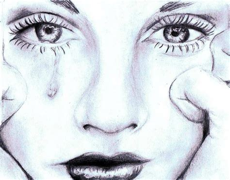 crying face sketch sad face crying drawing tattoo ideas
