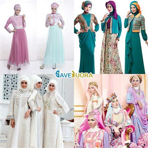 Gambar Gamis Wanita Dewasa model gambar baju muslim lebaran trend terbaru tahun ini 2018