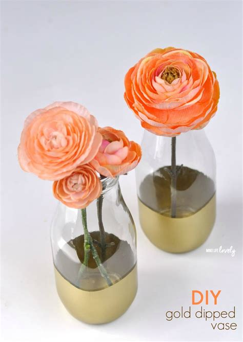 Gold Dipped Vases by Diy Gold Dipped Vases Giveaway Make Lovely