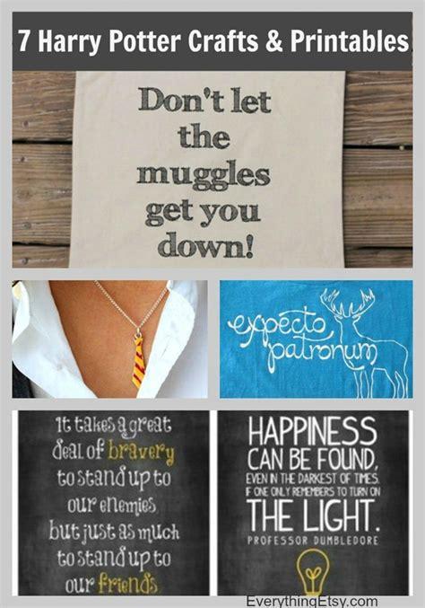 harry potter diy crafts 7 harry potter craft ideas printables