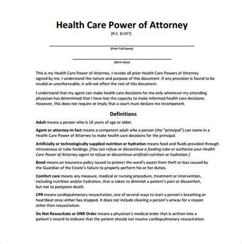 sle medical power of attorney form 14 download free