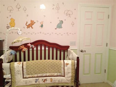 Classic Winnie The Pooh Curtains For Nursery Classic Winnie The Pooh Nursery Set Neutral Made For With Pink And Green Wall For The