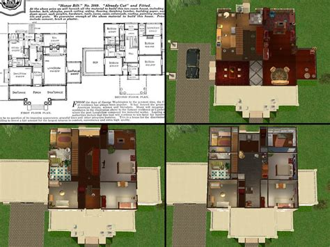 sims 2 home design kit mod the sims the magnolia sears modern homes 1915 1920