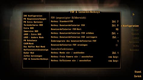 console command new vegas fov and console hotkeys german and at fallout