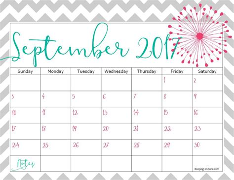 printable calendar 2018 cute september 2017 calendar cute 2018 calendar printable