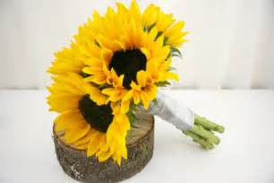 sunflower bouquet yellow wedding bouquets bb0884 sunflower bouquet