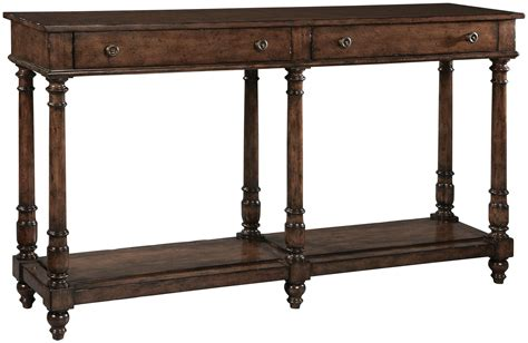 brown console table brown drawer console table from hekman furniture coleman
