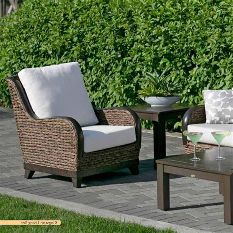 patio wicker furniture wicker land patio furniture kingston seating all weather resin wicker patio furniture by