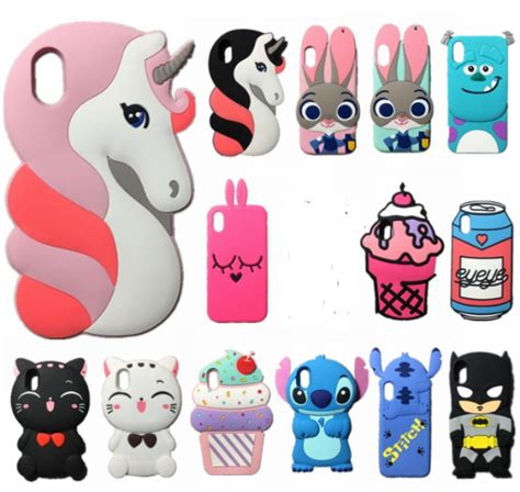 Iphone X Cat 3d unicorn cat for iphone x 10 soft silicone