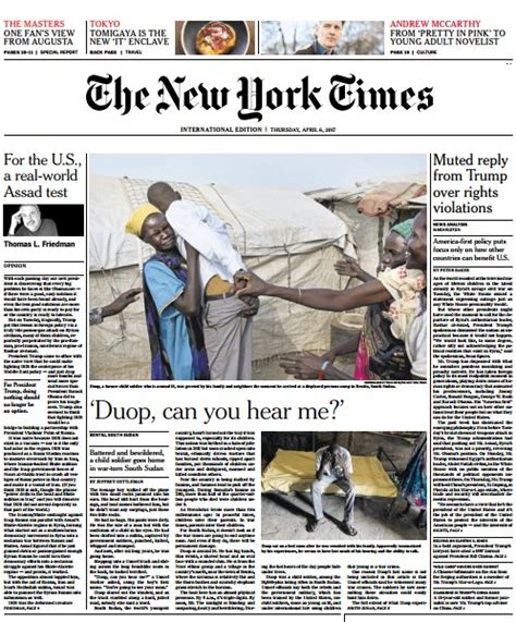 Pdf New York Times Archives Free by International New York Times 6 April 2017 Pdf Free