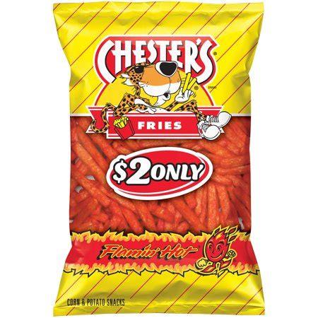 hot funyuns chips calories chesters flamin hot fries corn potato snacks 5 75 oz