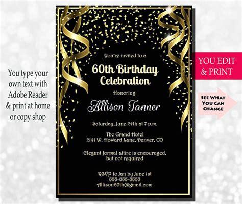 invitations for 60th birthday 60th birthday invitation 60th birthday invitation 60th