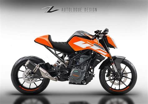 Ktm Duke 200 Design The New Ktm 250 Duke Already Hits The Chop Shop