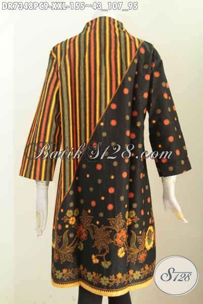 Batik Dress Jumbo Wanita jual batik dress pakaian batik jumbo wanita gemuk