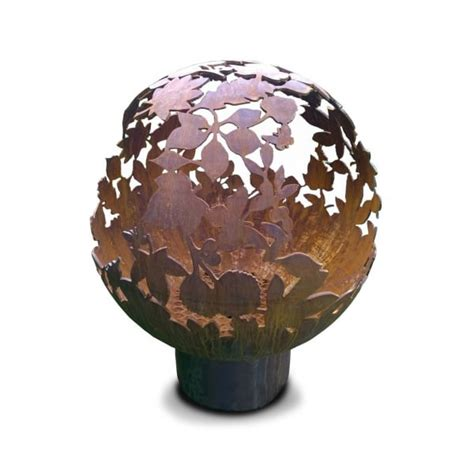 700mm leaf sphere fire pit