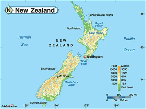 new zealand physical map population and settlement newzealand