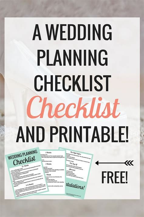 25  best ideas about Wedding checklist printable on
