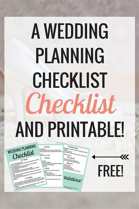 25  best ideas about Wedding checklist printable on