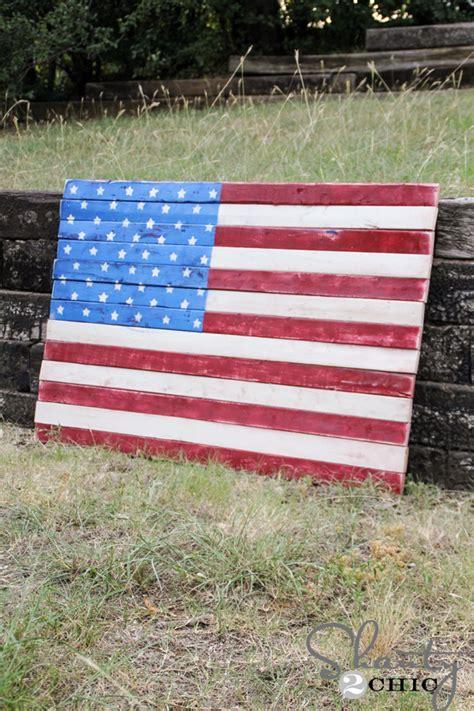 wood pallet art american flag shanty  chic