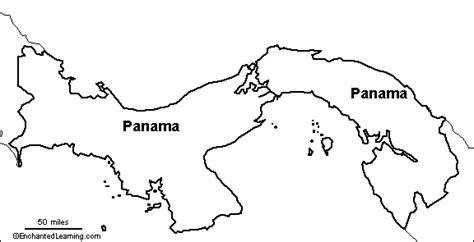 panama map coloring page outline map research activity 2 panama