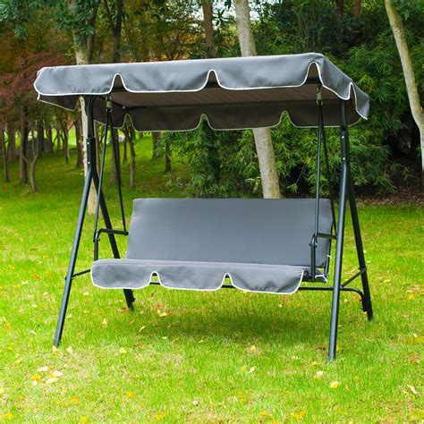 metal garden swing 3 person swing chair metal garden outdoor hammock lounger