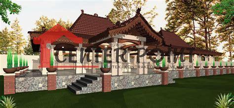St Etnik desain rumah joglo jogja gambar rumah adat jawa